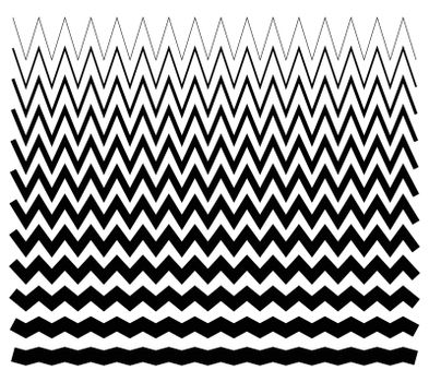 Edgy, pointed zig zag lines, jagged lines.