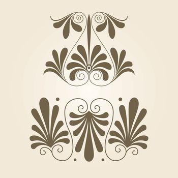 Set of antique decorative elements