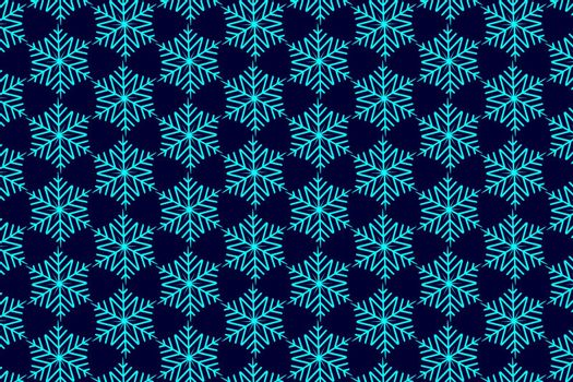 Blue snowflake on a blue background - vector pattern,