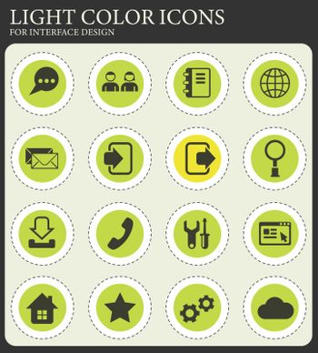 web tools vector icons for web and user interface design