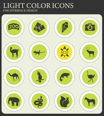 zoo web icons for user interface design