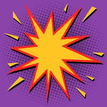Comic bubble sharp star. Pop art retro vector illustration drawing vintage kitsch