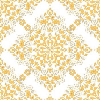 Damask wallpaper Vector illustration. Easily editable vector image