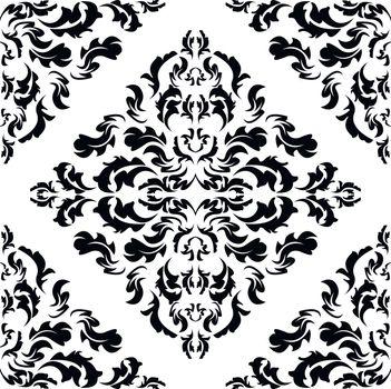 Damask wallpaper easily editable vector image eps10