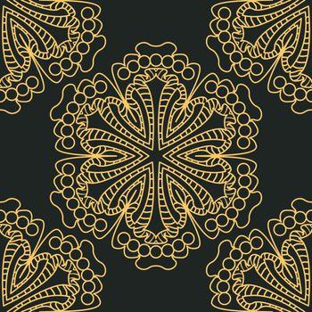 Damask wallpaper easily editable vector image eps 10