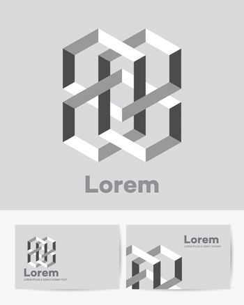 Abstract figure as a business logo, sign or symbol