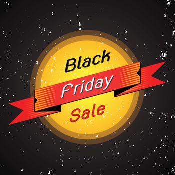 Black friday sale banner on black