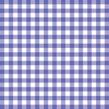 The pattern for a blue gingham table cloth