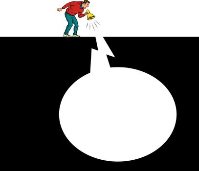 Message talk shout info. Pit silhouette. Pop art retro vector illustration 50s 60s style