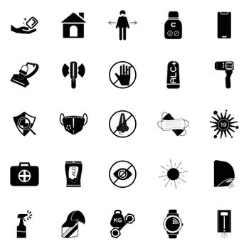 Protect yourself against covid-19 icons