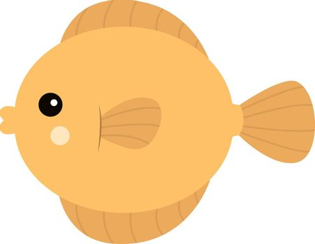 Yellow fish, illustration, vector on white background.