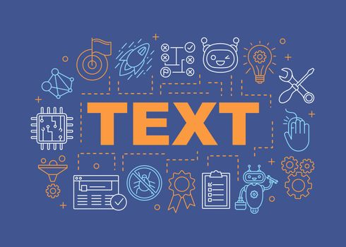 Fix it word concepts banner. Service center. Support software. Chatbot, antivirus program, technical support. Isolated lettering typography idea with linear icons. Vector outline illustration