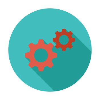 Gear. Flat vector icon for mobile and web applications. Vector illustration.