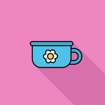 Potty icon. Flat vector related icon with long shadow for web and mobile applications. It can be used as - logo, pictogram, icon, infographic element. Vector Illustration.