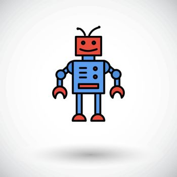 Robot toy icon. Flat vector related icon for web and mobile applications. It can be used as - logo, pictogram, icon, infographic element. Vector Illustration.