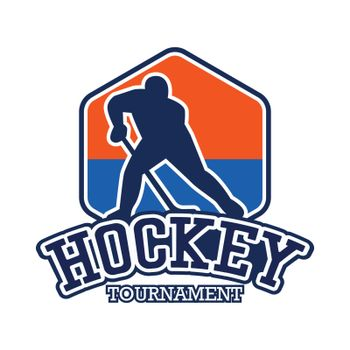 hockey icon with text space for your slogan / tag line, vector illustration