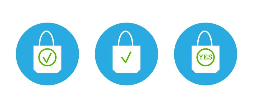 icons of the environmental packages. Use organic bags. Environmental protection