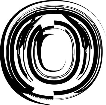 Abstract Letter o