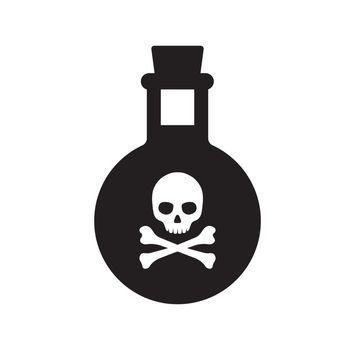 poison bottle / toxic icon
