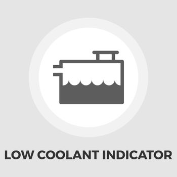 Low coolant indicator icon vector. Flat icon isolated on the white background. Editable EPS file. Vector illustration.