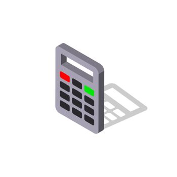 Calculator vector icon.Isometric vector illustration. - Vector