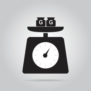 Weight scale icon, symbol vector illustration