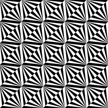 Seamless illustrated pattern made of black and white elements