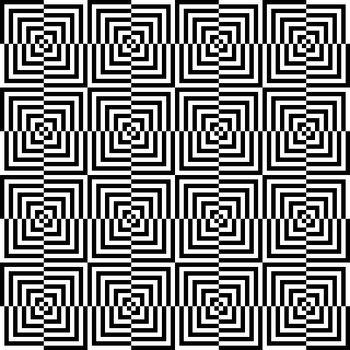 Seamless illustrated pattern made of white and black squares