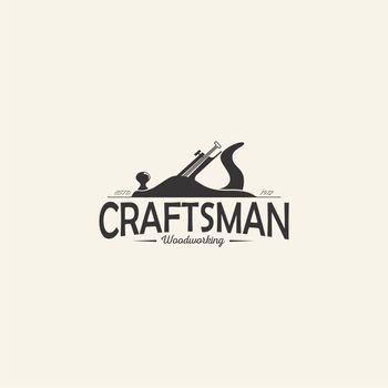 carpentry woodworking company logo concept. vintage design of carpenter tool vector illustration.
