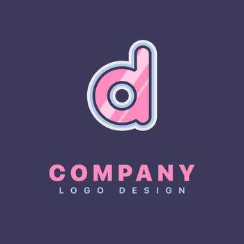 Letter D logo design template. Company logo icon