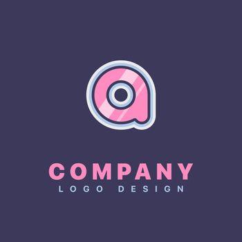 Letter A logo design template. Company logo icon