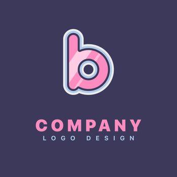 Letter B logo design template. Company logo icon