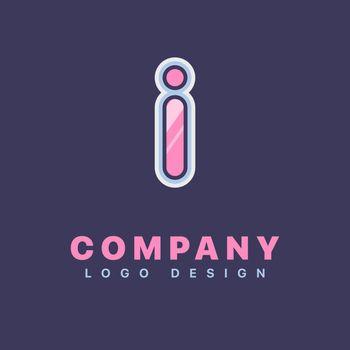 Letter I logo design template. Company logo icon