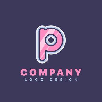 Letter P logo design template. Company logo icon