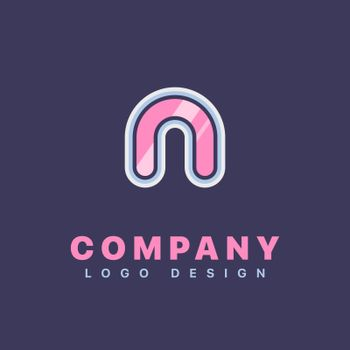 Letter N logo design template. Company logo icon