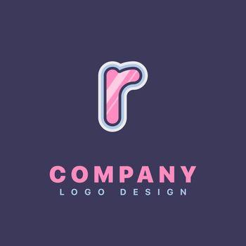 Letter R logo design template. Company logo icon