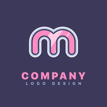 Letter M logo design template. Company logo icon