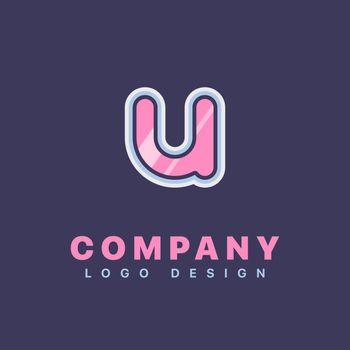 Letter U logo design template. Company logo icon
