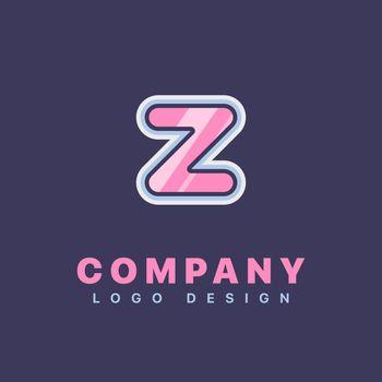 Letter Z logo design template. Company logo icon