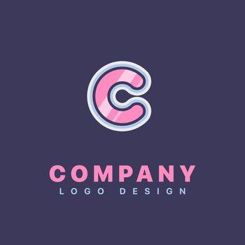 Letter C logo design template. Company logo icon