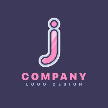 Letter J logo design template. Company logo icon