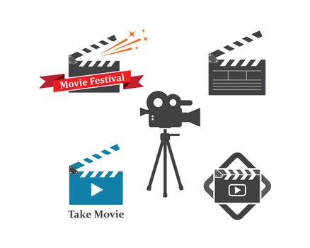 clapperboard movie icon of industry movie and movie festival vector illustration design