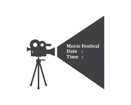 movie,film recorder logo icon of industry film vector illustration design