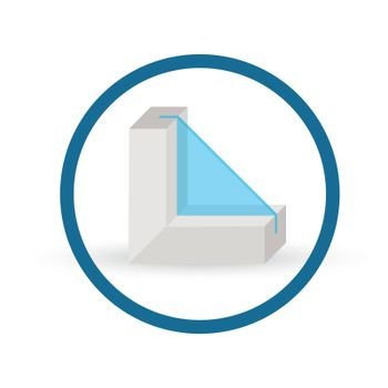 Information about Energy Efficient windows. Vector icon.