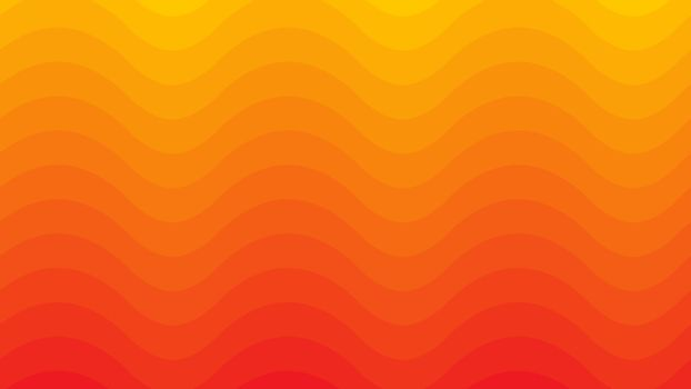 Yellow and Orange vector cover with waves. Graphic abstract illustration for website, poster, banner ads.