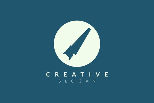 Design a circular saw icon. Minimalist and modern vector design suitable for community, business, and product brands.