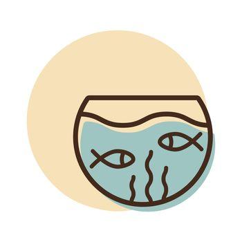 Fish aquarium vector icon. Pet animal sign. Graph symbol for pet and veterinary web site and apps design, logo, app, UI