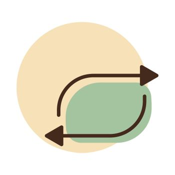 Repeat button vector flat icon. Music sign. Graph symbol for music and sound web site and apps design, logo, app, UI
