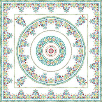 Hungarian tile. Decorative background inspired by traditional Hungarian embroidery.