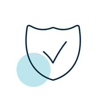 Best protection shield outline icon. E-commerce sign. Graph symbol for your web site design, logo, app, UI. Vector illustration, EPS10.